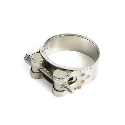 Universal Exhaust Clamp Kit Banjo For Sport Street Motorcycle Scooter 52mm-55mm
