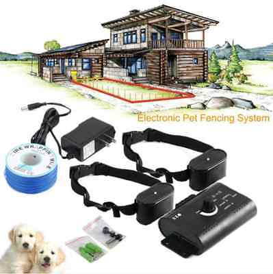 In-Ground Electric Dog Pet Fence Containment System Shock Collars for 1 2 3 Dogs