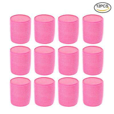 12pc Large Soft Hair Rollers Tool Perfect For Sleeping In Curling Accessory Pink