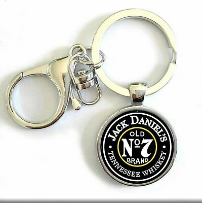 Novelty Collectable Metal Jack Daniels Old no 7 Brand Tennessee Whiskey Keyring