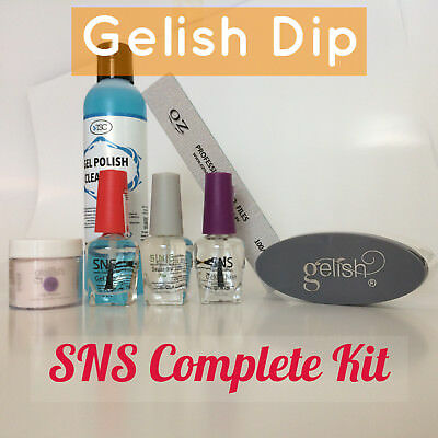 Gelish Dip SNS 1 Dipping Powder / Choice of Color & Liquids Nail Complete Kit