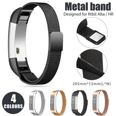 Stainless Steel Replacement Wristband Spare Metal Band Strap for Fitbit Alta HR