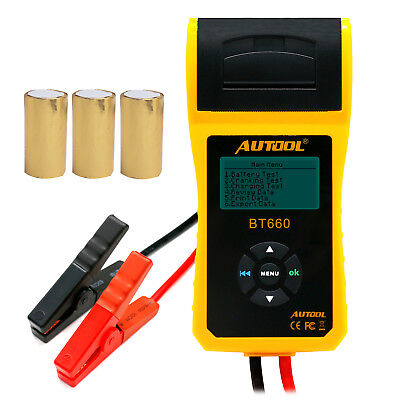 Autool BT660 12V Auto Cranking Lead Acid Battery Conductance Tester + 3 Printer