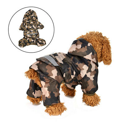 Waterproof Pet Dog Puppy Vest Jacket Warm Dogs Clothes Outdoor Rain Camo Coat