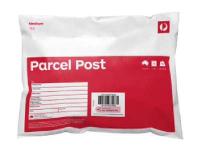 Australia Post - 10 x 3kg Parcel Post Prepaid Medium Satchels