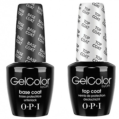SALE !!! OPI GEL COLOR  TOP AND BASE COAT - 2 x 15ML Fast Free Delivery SALE!!!