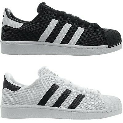 save off 060c9 864de Adidas Superstar men s low-top sneakers black or white casual shoes  trainers NEW