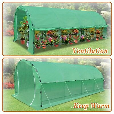 20' X10' X 7' Greenhouse Heavy Duty Walk In Outdoor Plant Gardening Green House