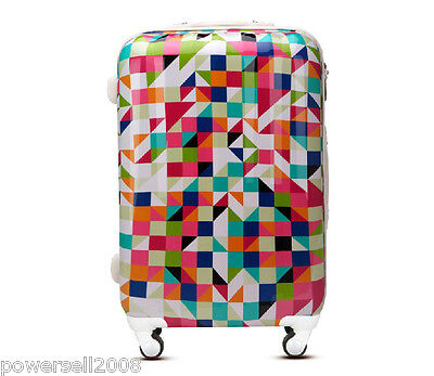 "28"" New Geometric Tax Stamp Universal Wheel ABS+PC Travel Suitcase Luggage LLX"