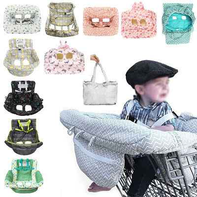 AU Foldable Baby Shopping Trolley Cart Seat Cushion High Chair Cover Protector