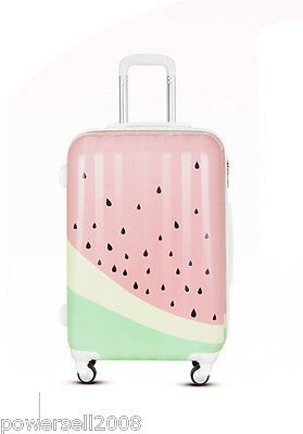 "24"" TSA Lock Universal Wheel Watermelon Pattern ABS+PC Travel Suitcase Luggage"
