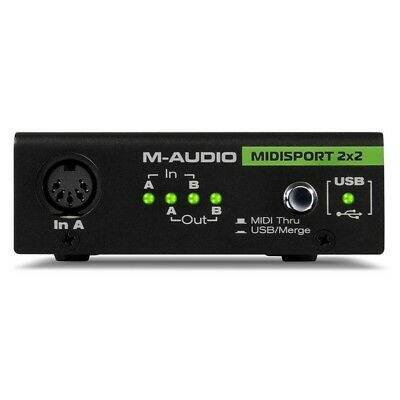 M-Audio MIDISPORT 2x2  USB MIDI Audio Interface Anniversary Edition Inc Warranty