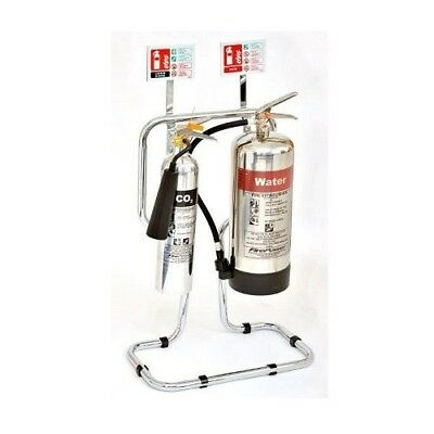 Chrome Fire Extinguishers & Stand Package - Water Version - 81/03601