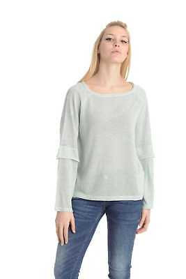 Only Maglia Manica Lunga Donna Acqua Marina 15149098-MORNING MIST DETAIL