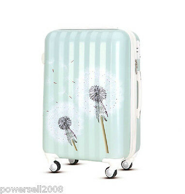 "28"" New TSA Lock Universal Wheel Blue Dandelion ABS+PC Travel Suitcase Luggage"