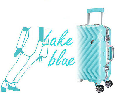 "28""Blue TSA Lock Universal Wheel ABS+PC Business Travel Suitcase Luggage Trolley"