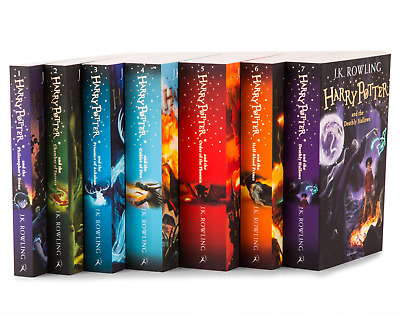 Harry Potter 7 Books Complete Collection Paperback Boxed Set Brand New!!!