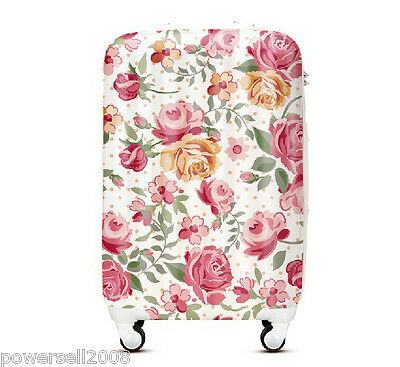 "28"" New Fashion Noble Flowers Universal Wheel ABS+PC Travel Suitcase Luggage LLX"