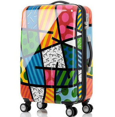 "28"" Cartoon TSA Lock Universal Wheel Fashion Travel Suitcase Luggage Trolley *"