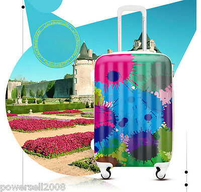 "#4 28"" New Fashion Graffiti Universal Wheel ABS+PC Travel Suitcase Boarding LLX"
