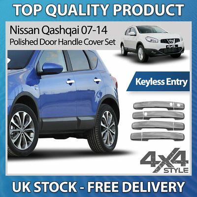 Stainless Steel Chrome Rear Grab Door Handle Cover for Nissan Qashqai 07-14