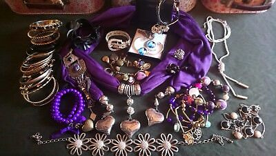 Large Joblot mixed costume jewellery.Boho.Ethnic.Unicorn.Silver.Low reserve.
