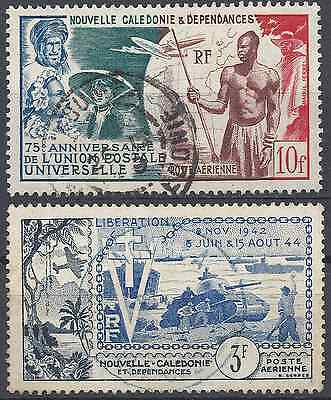 New Caledonia Pa N°64/65 - Obliteration Stamp Has Date