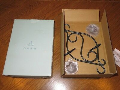 New PARTYLITE PO121 SCROLL SCONCE Wall Mount CANDLE HOLDER in BOX