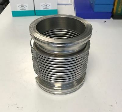 """SS Bellows Flex Coupling Vacuum fittings ISO100  6"""" long"""
