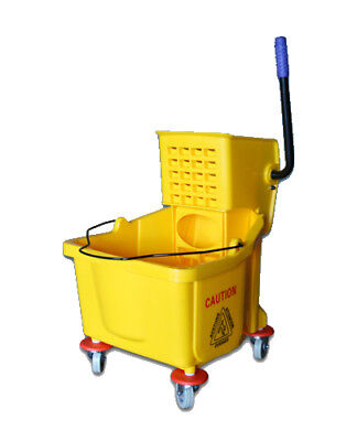 GENUINE 35 Quart Commercial Wet Mop Bucket & Wringer Combo Yellow  NEW