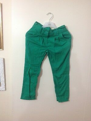 Girls green next trousers 7years.