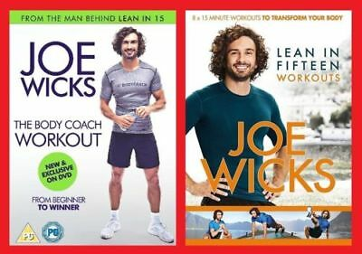 Joe Wicks DVD Pack - Lean in 15 Workouts and The Body Coach Brand New DVD