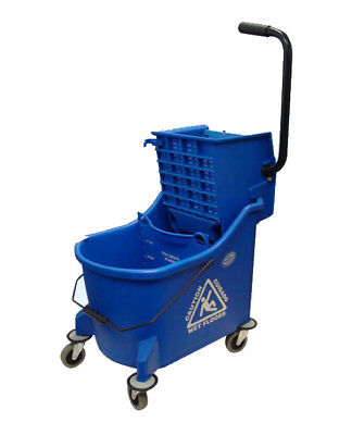 Compartment Bucket w/ Side Press Wringer Blue 35 QT//190900BL_BAI