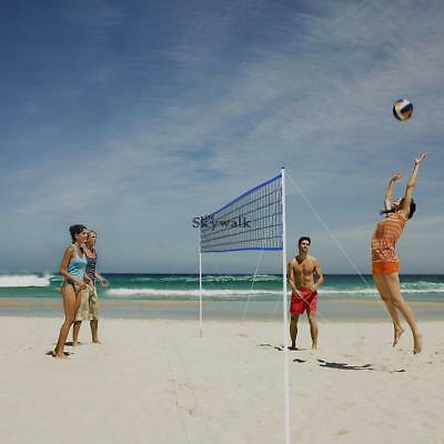 Outdoor Portable Volleyball Set For Backyard Net With Bag Ball Pump Volleyball