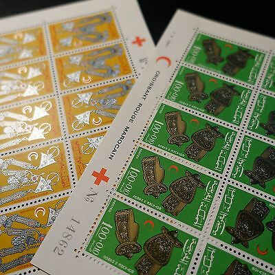 Morocco Morocco N°523/524 Sheet Sheet 10 Neuf Luxe Mnh Value