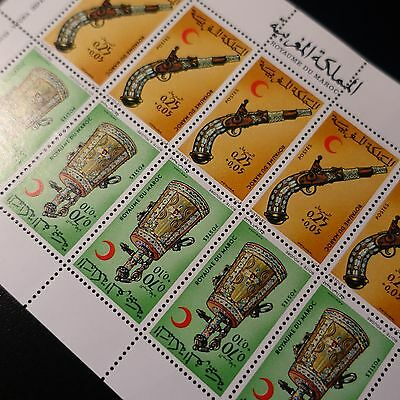 Morocco Morocco N°707/708 Sheet Sheet 10 Neuf Luxe Mnh Value