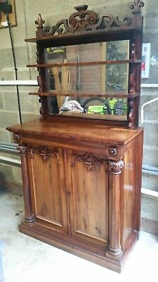 19th Century Antique Regency Rosewood Chiffonier Sideboard with Draw - Mirror