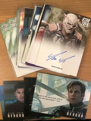 Star Trek Beyond Movie Autograph Cards & Quotable Singles
