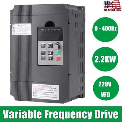2.2Kw 3Hp Vfd 12A 220V Single Phase Speed Variable Frequency Drive Inverter Us