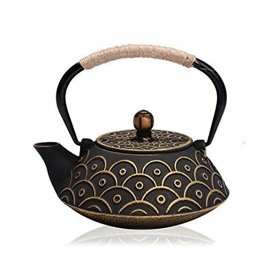 Japanese Cast Iron Teapot Kettle with Stainless Steel Infuser Strainer 800 ML