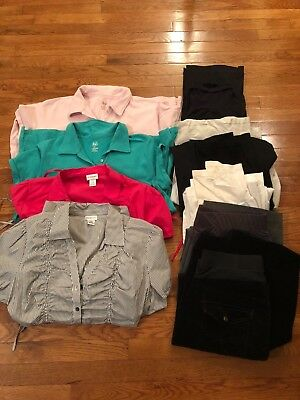 maternity lot L and XL, 4 tops and 6 bottoms, duo/motherhood/oh baby brands