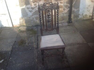 Beautiful Carved Wooden Antique Chair - Vintage / Retro / Rare / French Look
