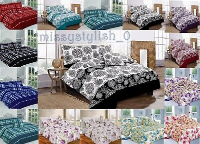 New 5 Piece BED IN A BAG Complete Bedding Duvet Quilt Cover Set Double King Size