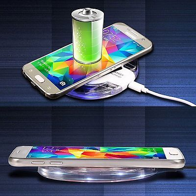 Portable Qi Wireless Clear Charger Charging Pad Dock For iPhone Samsung S6 S7 S8