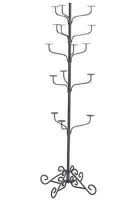 Hat Display Rack Boutique 5-Tier Millinery Floor Stand Silver Hammertone