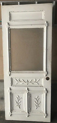 Stunning Victorian Entrance Door Etched Glass Window Detailed 33 7/8 82 3/8