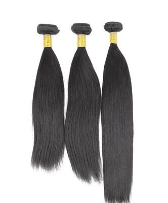 Bundle Deals 3 Pack Human Virgin Remy Natural Straight Hair Weave Extensions