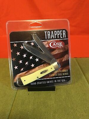 New - Case Xx Yellow Trapper Ss Vintage Knife Made In Usa
