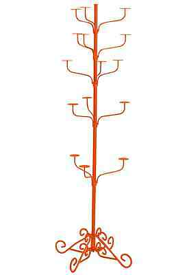 Hat Display Rack Boutique 5-Tier Millinery Floor Stand Custom Tiger Orange