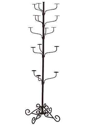 Hat Display Rack Boutique 5-Tier Millinery Retail Floor Stand Copper Vein